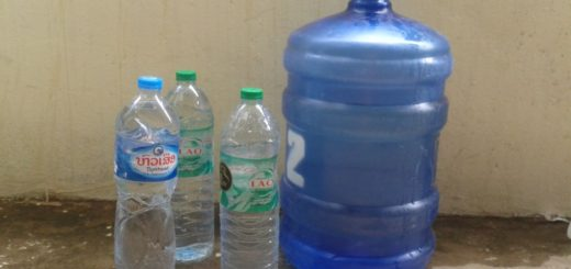 How to save on potable water in Luang Prabang, Laos